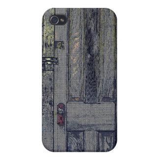 Puerta de madera raquítica de la vertiente iPhone 4/4S fundas