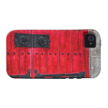 Puerta de madera rústica roja magnífica Case-Mate iPhone 4 carcasa