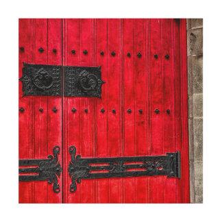 Puerta de madera rústica roja magnífica impresiones en madera