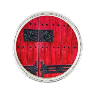 Puerta de madera rústica roja magnífica pin
