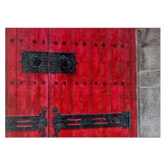 Puerta de madera rústica roja magnífica tablas de cortar