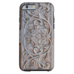Puerta de madera tallada vieja Scrollwork Funda De iPhone 6 Tough