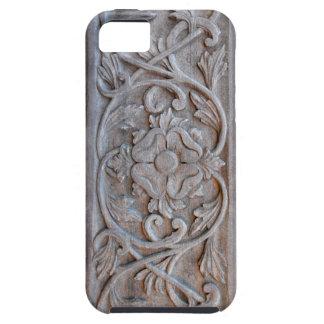 Puerta de madera tallada vieja Scrollwork Funda Para iPhone 5 Tough