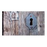Puerta de madera tarjetas de visita