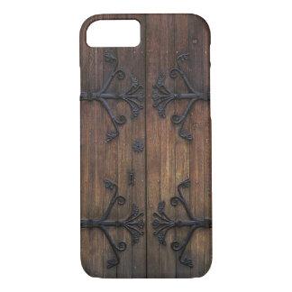 Puerta de madera vieja hermosa funda iPhone 7
