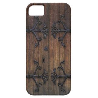 Puerta de madera vieja hermosa funda para iPhone SE/5/5s