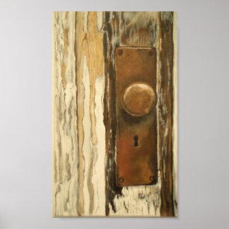 Puerta de madera vieja posters