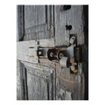 Puerta de madera vieja póster
