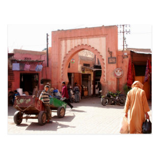 puerta de Marrakesh Medina Tarjetas Postales
