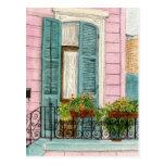 Puerta de New Orleans con los obturadores Postal