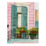 Puerta de New Orleans con los obturadores Tarjeta Postal
