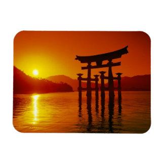 Puerta de O-Torii, capilla de Itsukushima, Miyajim Imán Flexible