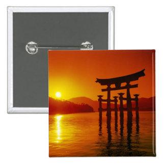 Puerta de O-Torii, capilla de Itsukushima, Miyajim Pin Cuadrado