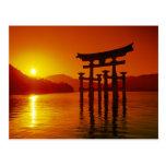 Puerta de O-Torii, capilla de Itsukushima, Tarjetas Postales