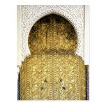 Puerta de oro y una manera del arco, Marruecos Postales