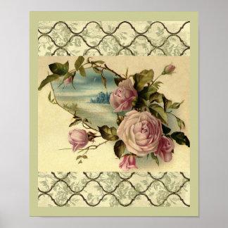 Puerta de rosaleda del Victorian por el poster del Póster