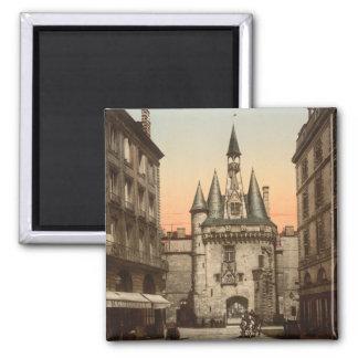 Puerta de Sevigne, Burdeos, Francia Imán Cuadrado