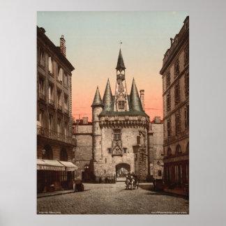 Puerta de Sevigne, Burdeos, Francia Póster