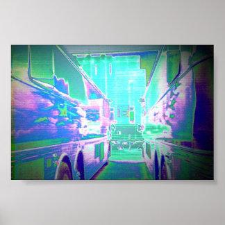 Puerta del autobús E de Pink Floyd Póster