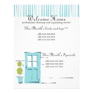 "Puerta del azul del huevo del petirrojo bonito folleto 8.5"" x 11"""