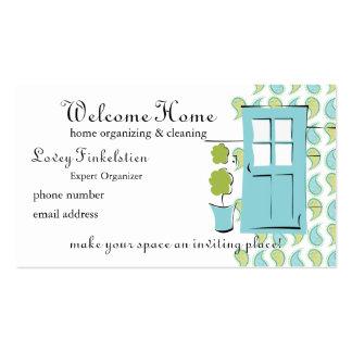 Puerta del azul del huevo del petirrojo bonito tarjetas de visita