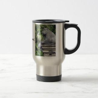 Puerta del bosque del mono taza de café