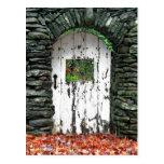 Puerta del bosque tarjetas postales