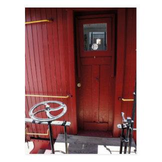 Puerta del Caboose Tarjetas Postales
