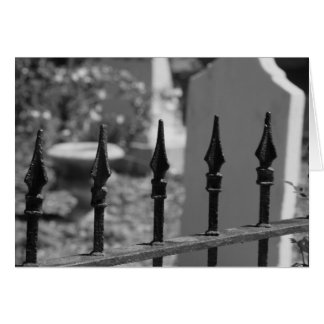 Puerta del cementerio tarjeta de felicitación