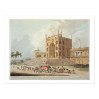 Puerta del este del Jummah Musjid en Delhi, de ' Postal