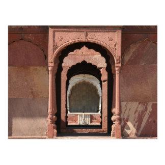 puerta del fuerte de Delhi Tarjetas Postales
