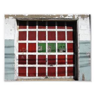 Puerta del garaje impresion fotografica