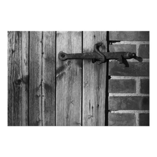 Puerta del granero viejo 5 póster