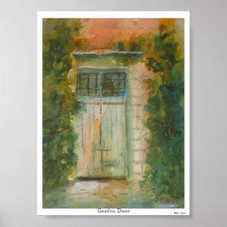 Puerta del jardín de Kevin E. Slater Póster