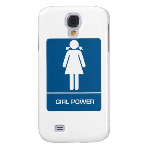 Puerta del lavabo del poder del chica