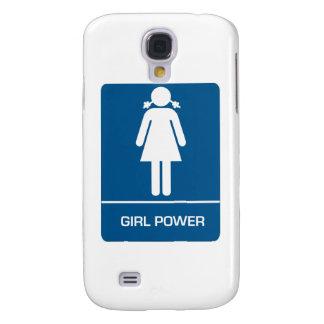 Puerta del lavabo del poder del chica funda para galaxy s4