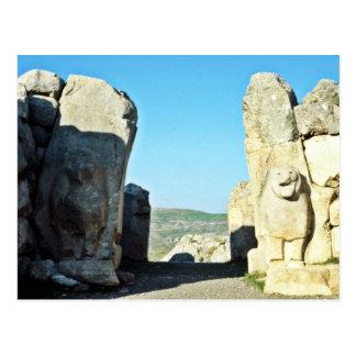 Puerta del león en Hattushas, 1300 A.C. Postal