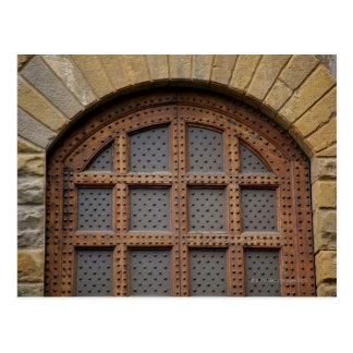 Puerta del metal y de madera, Florencia, Italia Tarjeta Postal
