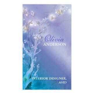 Puerta del negocio azul y púrpura de la fantasía tarjetas de visita