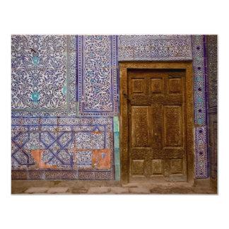 """Puerta del palacio de Toshxauli Invitación 4.25"""" X 5.5"""""""