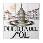 """Puerta del Sol, Madrid Street Sign Ceramic Tile<br><div class=""""desc"""">An original street sign from the capital of Spain,  Madrid. Check out our series of real street and road signs!</div>"""
