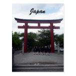 puerta del torii de kamakura tarjeta postal