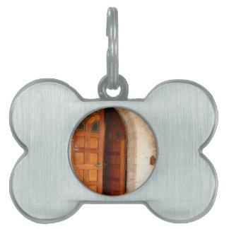 Puerta doble placas mascota