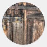 Puerta - el cierre pegatina redonda