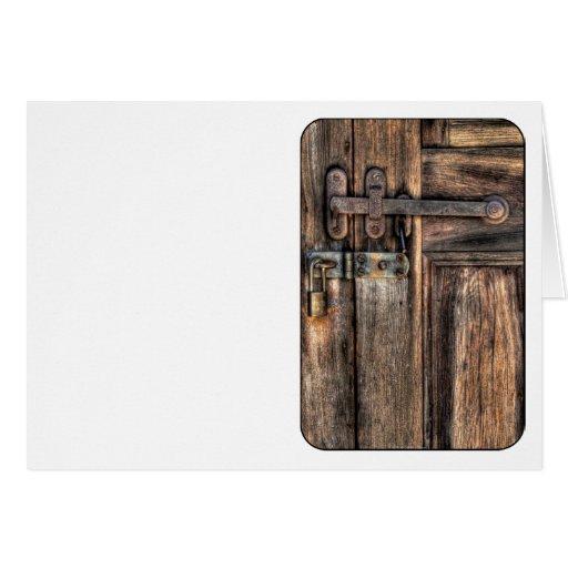 Puerta - el cierre tarjetas
