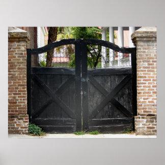 Puerta en Charleston Carolina del Sur Póster