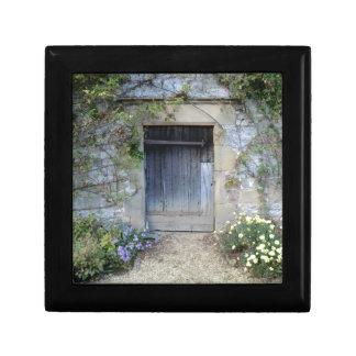 Puerta en Haddon Pasillo en Derbyshire Joyero Cuadrado Pequeño