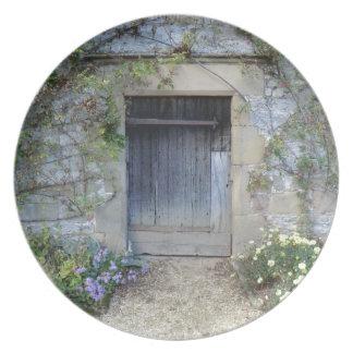 Puerta en Haddon Pasillo en Derbyshire Platos