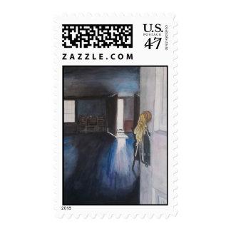 Puerta en la granja de la piedra del adoquín, Ann Timbre Postal