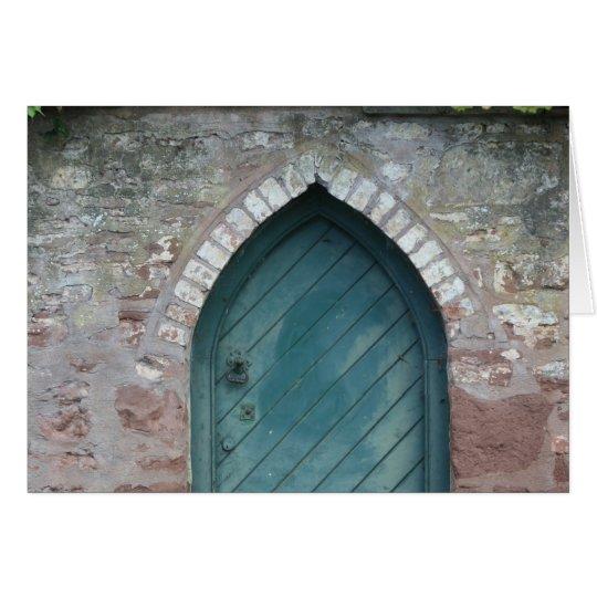 Puerta en los obispos Lydeard, Somerset, Reino Tarjeta De Felicitación